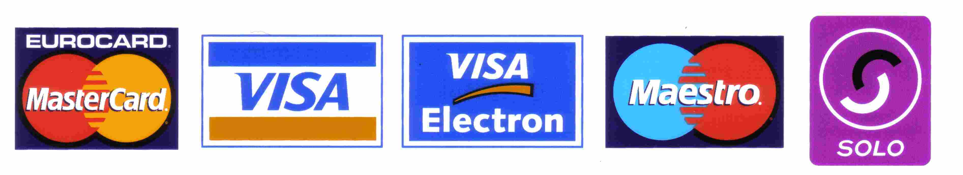 We Accept Major Credit/Debit Cards